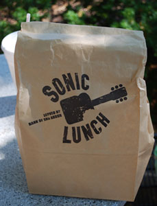 The Sonic Lunch series has its own brown bag.