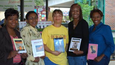 Writers from Aquarius Press: Cheryl Coleman-Brown, Sylvia McClain, Heather Buchanan, Karen S. Williams and Felecia Studstill.