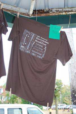 A Kerrytown BookFest T-shirt on sale at Sunday's event.