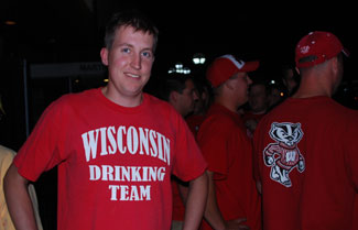Wisconsin Drinking Team. Where were they when the football team needed a two-pint conversion?