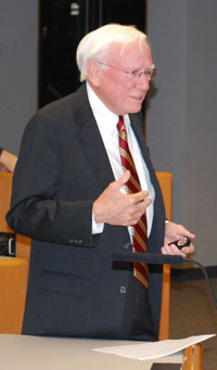 Architect Carl Luckenbach spoke at Monday