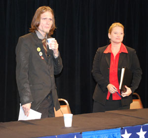 Matt Erard and Rebekah Warren, candidates for the 53rd District state House.