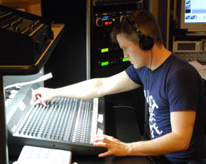 CTN staffer Rob Cross worked the audio during Monday's League of Women Voters debates.