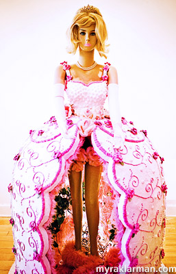 The lifesized Barbie cake by artists Mike Sivak and Julie Renfro.