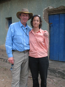 David and Valerie Canter, in Rwanda.