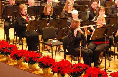 Lorne Kennedy's first clarinet seat was graced with a rose on Thursday night's joint performance of the Ypsilanti Community Band and Choir.