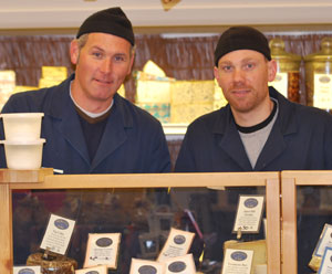 Tommy York and Sean Hartwig behind the counter at Morgan  York. York and his partner Matt Morgan have owned the store since 2001. Hartwig is the stores manager.