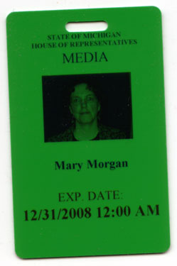 The Chronicle's media pass for