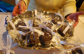 Jean Teifer made four kinds of small chocolate purses that were given out as gifts to those attending the March 11 Power of the Purse event.