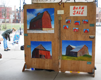 Barn paintings by M. Royal Schroll.