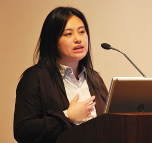 Linh Song, an organizer and presenter at Wednesdays Cultural Alliance annual meeting.