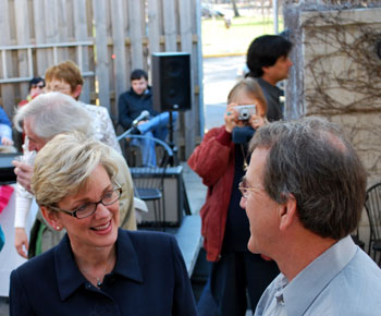 Governor Jennifer Granholm and Lloyd Carr