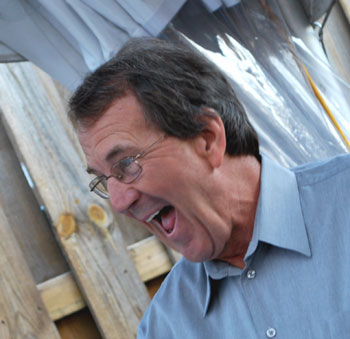 Lloyd Carr with his mouth open