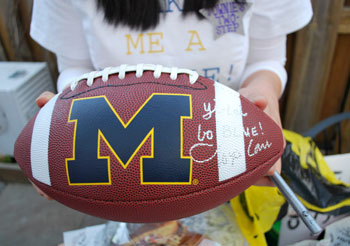 football signed by Lloyd Carr