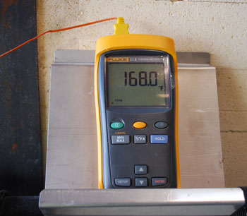 Thermometer for kiln