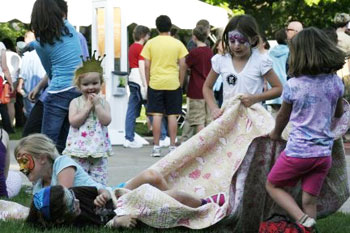 These kids had visited the face-painting tent at the Ann Arbor Summer Festivals Top of the Park opening night.