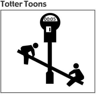 Teeter totter cartoon about parking meters