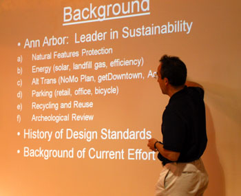 Goal of the AHP project, Jeff Kahan standing in front of a slide