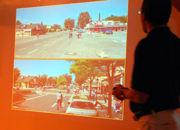 contrast between pedestrian-oriented development and sprawl Ann Arbor public meeting