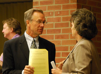 Jim Kosteva and Sue McCormick at Ann Arbor City Council Meeting