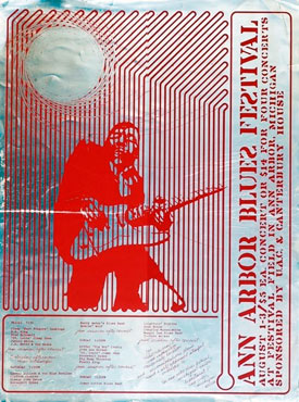 Promotional poster for the 1969 Ann Arbor Blues Festival. Photo courtesy Michael Erlewine