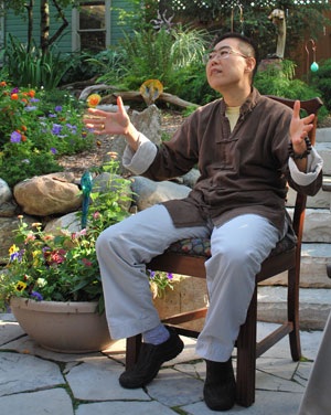 Dr. Yun Lu explains the work of the nonprofit he founded, Golden Courage International.