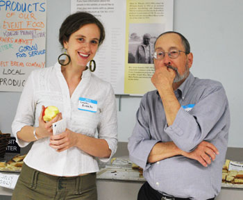 Laura Russello, executive director of Michigan Peaceworks, with Larry Horvath, one of the nonprofit's volunteers.