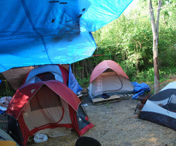tents at homeless camp