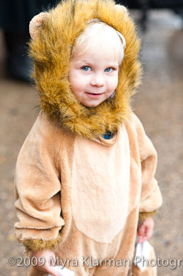 Boy in a lion's costume