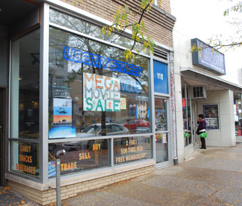 The storefront of Liberty Street Video at 119 E. Liberty in Ann Arbor.