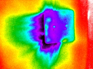 infrared scan of switchplate to external wall