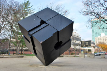 The Cube on University of Michigan Campus