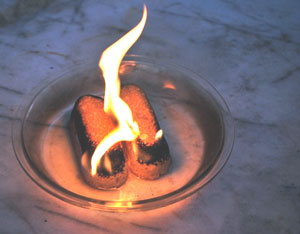 Twinkie fire. An accelerant was used to enhance the flames for photographic purposes.
