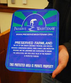 Preserve Washtenaw sign