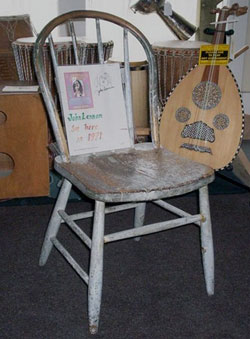 Chair that John Lennon sat it (Photo by the author.)