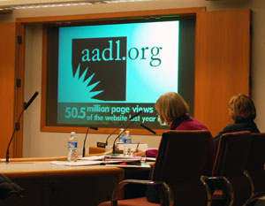 At Monday night's board meeting, the annual report by Ann Arbor District Library director Josie Parker was made as a video presentation.