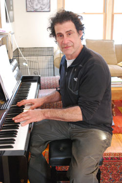 Musician Dick Seigel in his home on Ann Arbor's near northwest side.