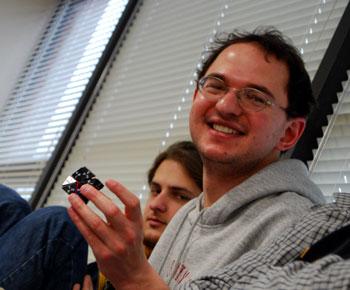Julian Rosen with 17-er tetraheadral cluster