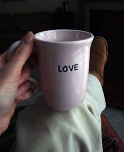 A mug of love.