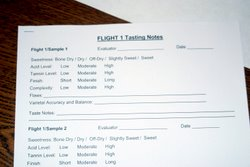 A tasting sheet helps tasters to organize and record their impressions.