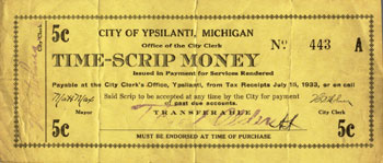 Ypsilanti Scrip Money