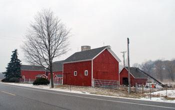 The barn and out buidlings at Staebler Farm, on Plymouth Road in Superior Township. Washtenaw County Parks & Recreation bought the farm in 2001, will be developing master plan for the property in the coming years.