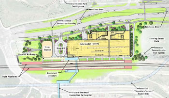 Fuller Road Station master plan