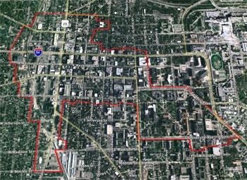 Ann Arbor DDA map