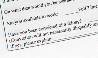 Portion of a Washtenaw County employment application