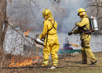 A controlled burn at the Argo Nature Area