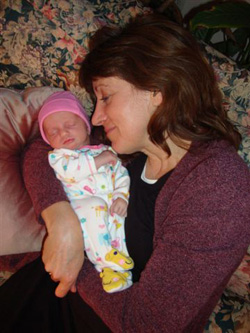 Jo Mathis and her granddaughter