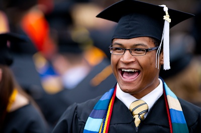 University of Michigan student at May 1 commencement