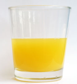 orange juice glass half empty half full