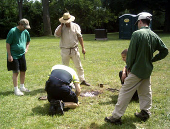 Fire-starting at the Ypsilanti Heritage Festival